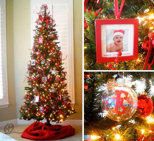 árvore de natal com fotos