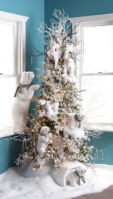 árvore de natal urso polar