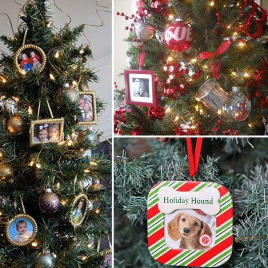 árvore de natal ideia com fotos