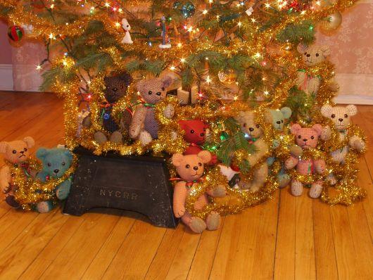 árvore de natal ursinhos de pelúcia