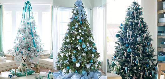 árvore de natal grande e azul