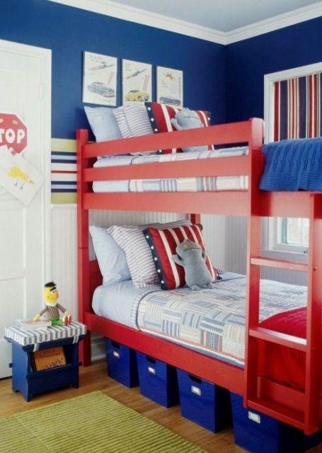 beliche moderna vermelha para meninos