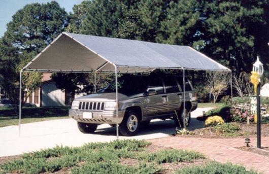 Cobertura para garagem de alumínio.
