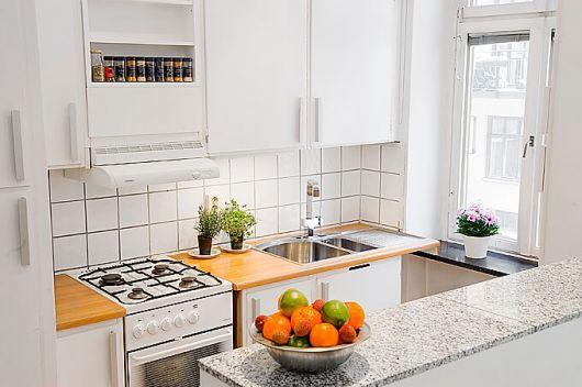 decoração de cozinha americana simples