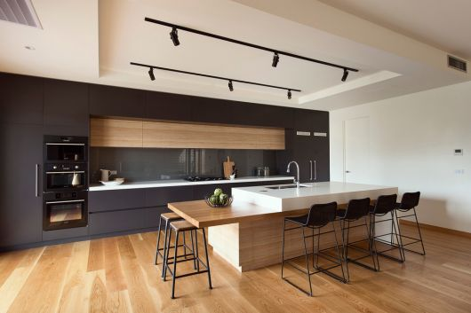 cozinha americana moderna madeira