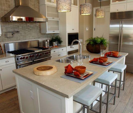 cozinha americana moderna ilha