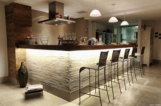 decoração de cozinha americana grande iluminação