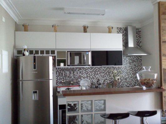 decoração de cozinha americana organizada