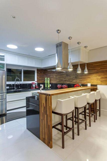 cozinha americana decoração iluminação