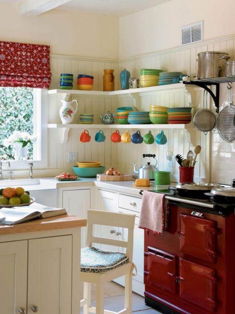 cozinha americana decoração com utensílios