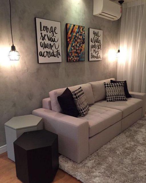 sala simples e moderna