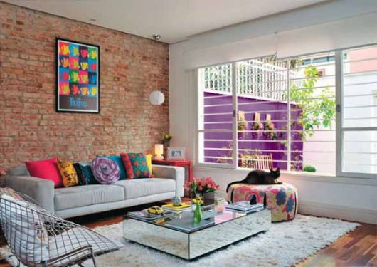 sala simples e criativa