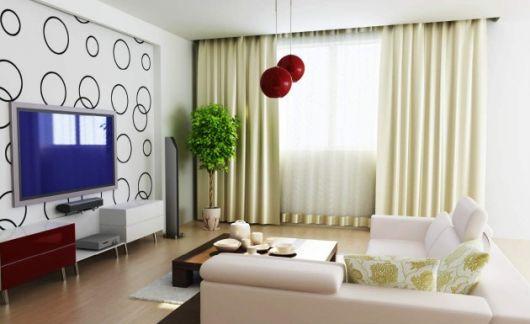 sala simples decorada de forma moderna