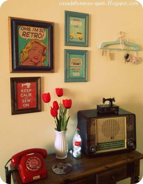 decoração de sala simples objetos vintage
