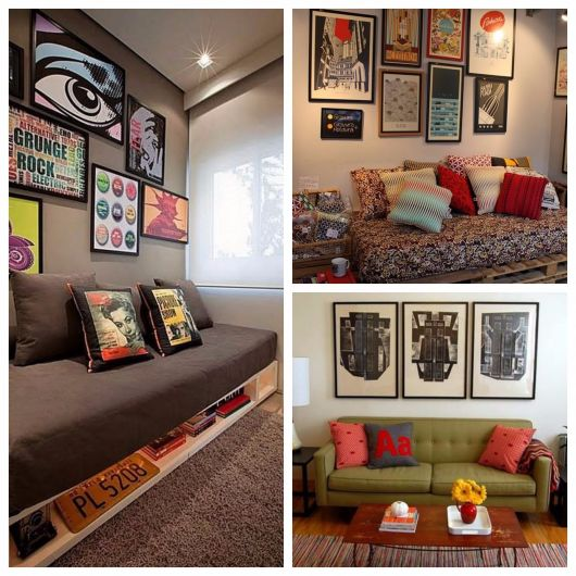 sala decorada com criatividade