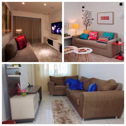 ideias de sala simples e marrom