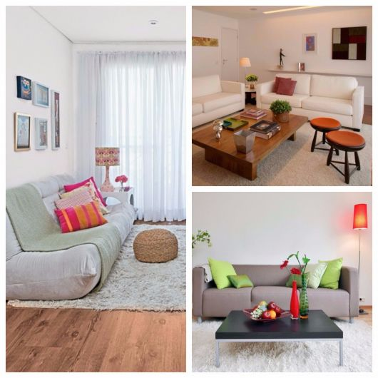 sala simples com tapete neutro