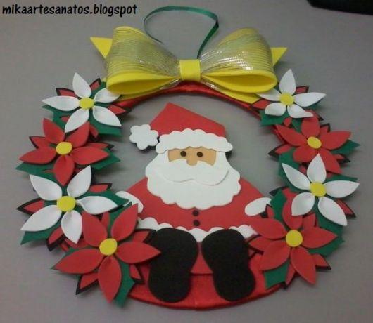 Guirlanda de Papai Noel