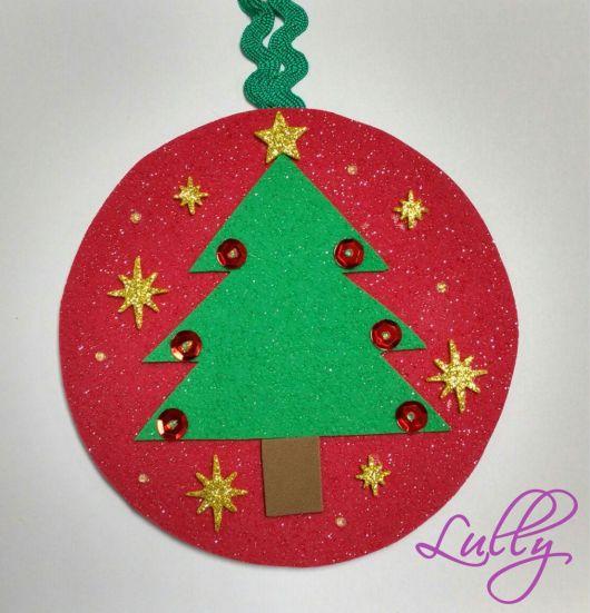 enfeite simples árvore de natal