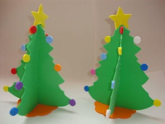 53 Ideias de Enfeites de Natal em EVA& Como Fazer Fácil em Casa! # Decoração Em Eva Natal