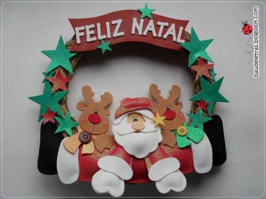 53 Ideias de Enfeites de Natal em EVA& Como Fazer Fácil em Casa! -> Decoração Em Eva Natal