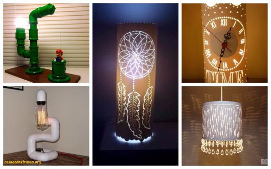 Luminaria De Pvc 60 Modelos Impressionantes Como Fazer