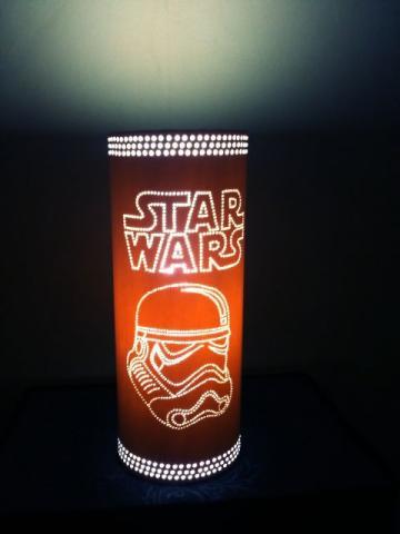 abajur Star Wars