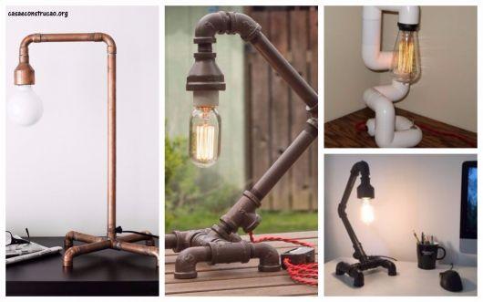 modelos de luminárias de mesa