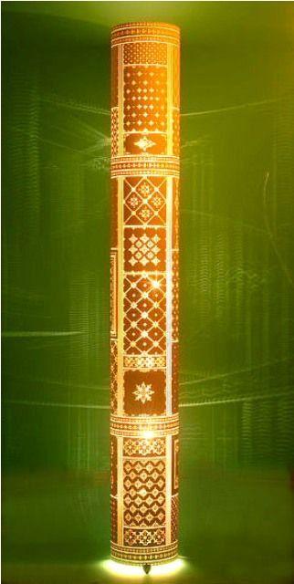 luminária coluna de chão