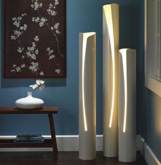 luminária coluna simples