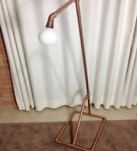 luminária cobre