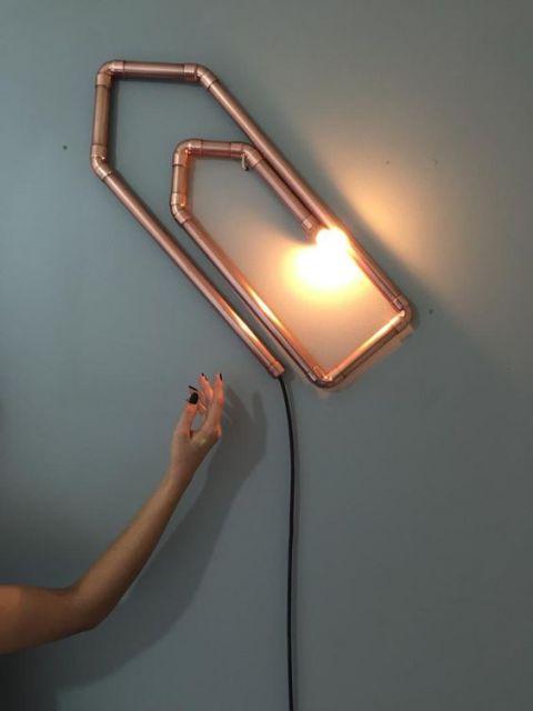 luminária cobre moderna