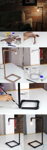 passo a passo luminária de mesa