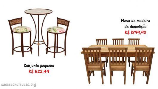 preços de mesas para sacada