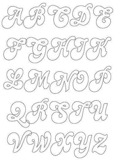 molde letra cursiva