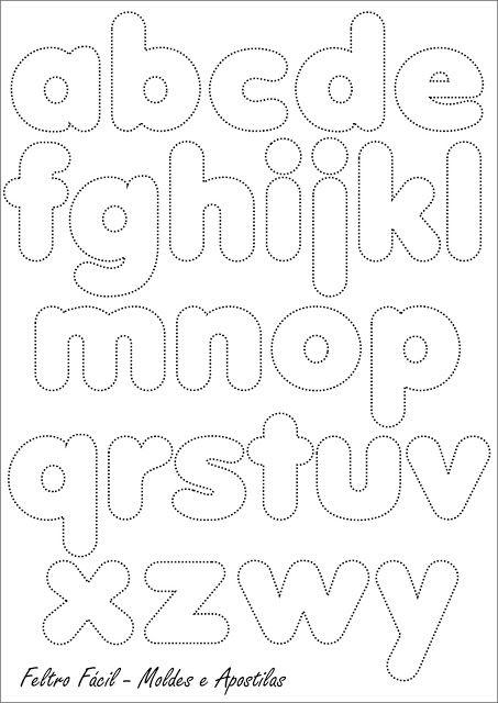 molde letra de forma