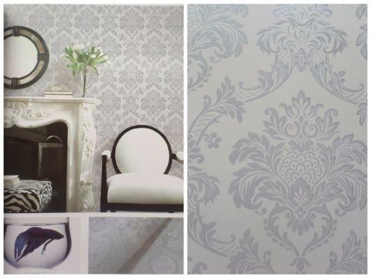 papel de parede arabesco cinza