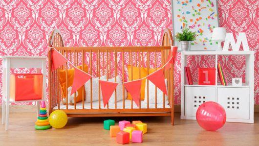 papel de parede arabesco pink