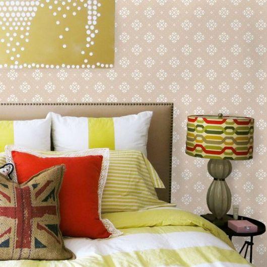 papel de parede arabesco no quarto