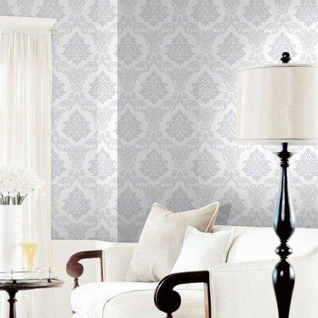 papel de parede arabesco cinza na sala