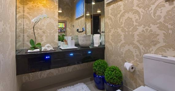 papel de parede arabesco banheiro