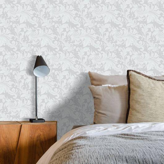 papel de parede arabesco discreto