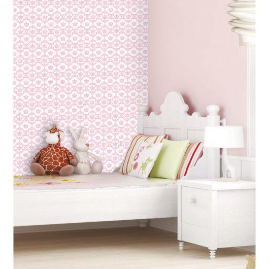 papel de parede arabesco rosinha