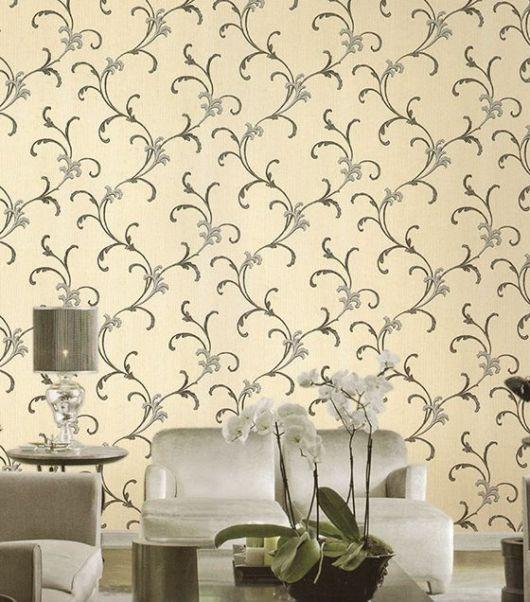 papel de parede arabesco delicado