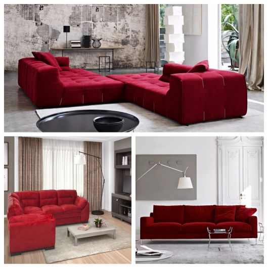 Sofá vermelho modelos bonitos