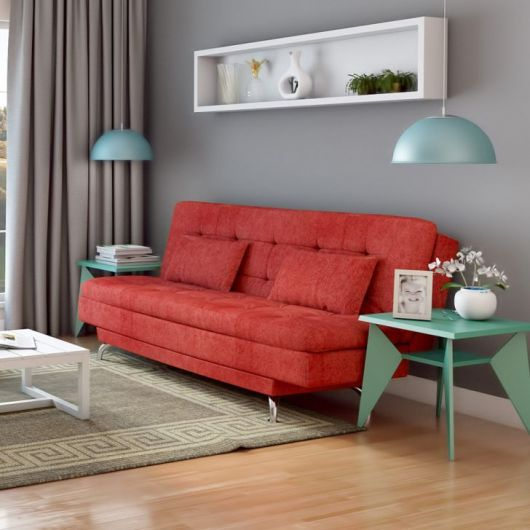 60 salas com sof vermelho incr veis modelos como for Casas de sofas en valencia