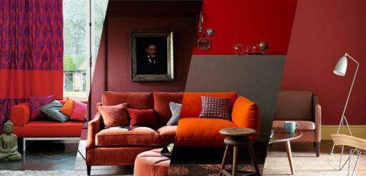 ideias de sofá vermelho
