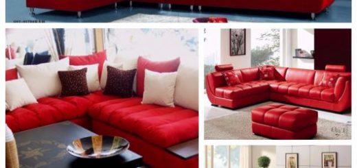 sofá vermelho modelos de canto