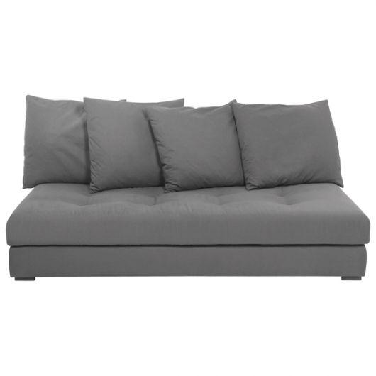 sofá futon cinza