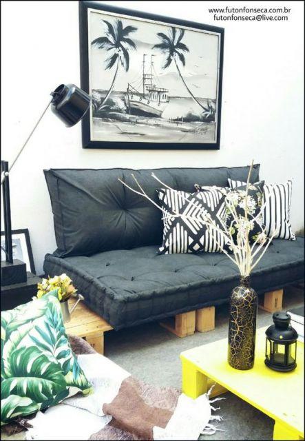 sofá futon pequeno turco